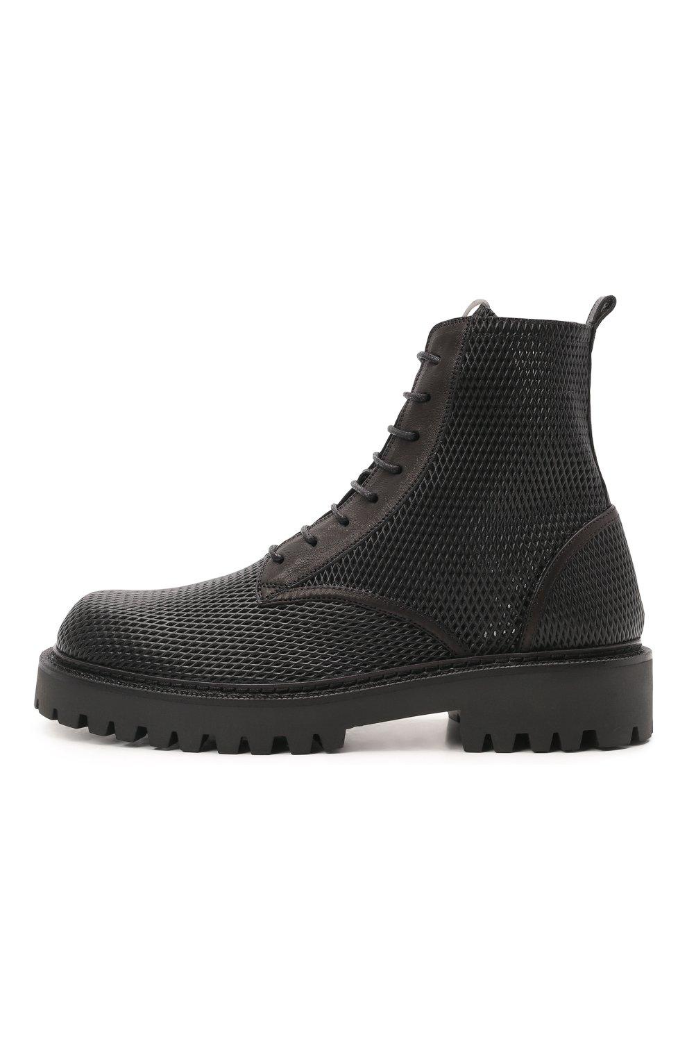Мужские кожаные ботинки VIC MATIE черного цвета, арт. 1Z5928U.Y02Z130101   Фото 3