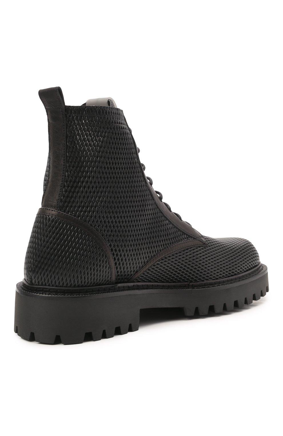 Мужские кожаные ботинки VIC MATIE черного цвета, арт. 1Z5928U.Y02Z130101   Фото 4