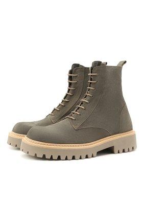 Мужские замшевые ботинки VIC MATIE серого цвета, арт. 1Z5927U.Y02Z010628 | Фото 1 (Материал внутренний: Натуральная кожа; Подошва: Массивная; Мужское Кросс-КТ: Ботинки-обувь; Материал внешний: Замша)