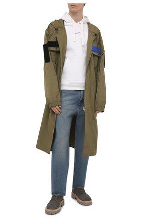 Мужские замшевые ботинки VIC MATIE серого цвета, арт. 1Z5927U.Y02Z010628 | Фото 2 (Материал внутренний: Натуральная кожа; Подошва: Массивная; Мужское Кросс-КТ: Ботинки-обувь; Материал внешний: Замша)