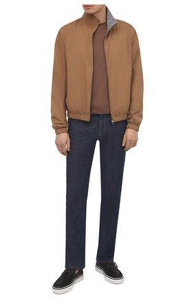 Мужские кожаные слипоны TOD'S черного цвета, арт. XXM03E0DQ20VYP | Фото 2 (Материал внутренний: Натуральная кожа; Стили: Кэжуэл)