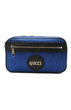 Мужская поясная сумка off the grid GUCCI синего цвета, арт. 631341/H9HBN | Фото 1