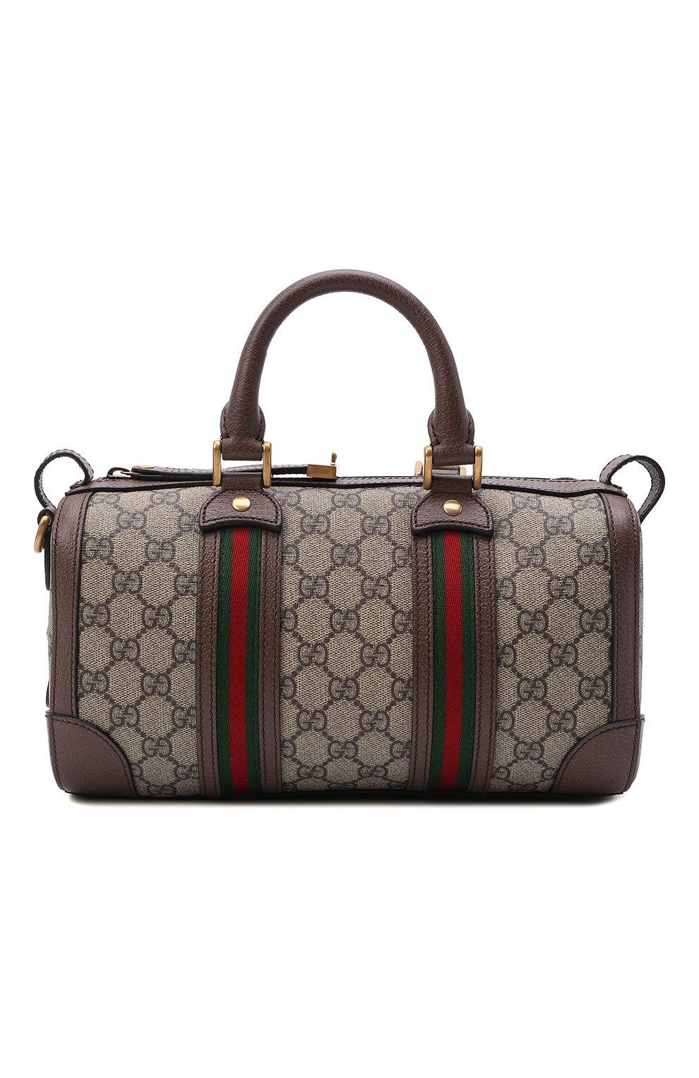 Мужская дорожная сумка GUCCI бежевого цвета, арт. 645024/96IWT | Фото 1
