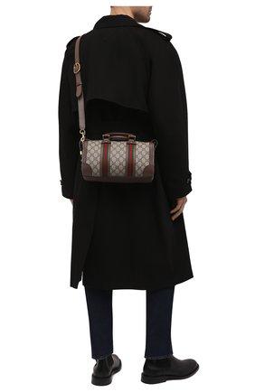 Мужская дорожная сумка GUCCI бежевого цвета, арт. 645024/96IWT | Фото 2