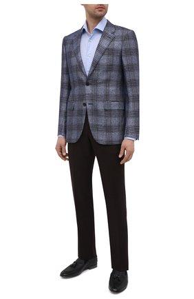 Мужские кожаные лоферы BARRETT темно-синего цвета, арт. B211U021.2/ALCE STAMPAT0 | Фото 2