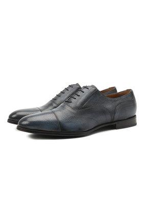 Мужские кожаные оксфорды BARRETT синего цвета, арт. B112U032.5/CERV0 ASP0RTABILE | Фото 1