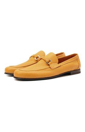 Мужские кожаные лоферы BARRETT желтого цвета, арт. 171U067.42/CERV0 C0UNTRY | Фото 1