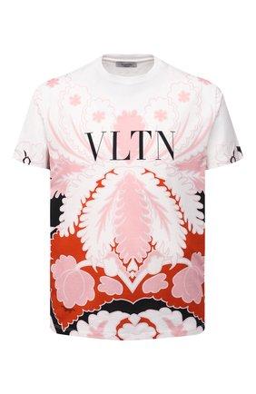 Мужская хлопковая футболка VALENTINO розового цвета, арт. VV3MG09P7B6 | Фото 1