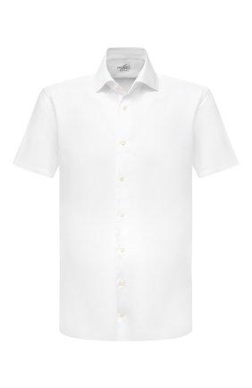Мужская хлопковая сорочка VAN LAACK белого цвета, арт. RIVARA-S-TF02/150189 | Фото 1 (Рукава: Короткие; Материал внешний: Хлопок; Длина (для топов): Стандартные; Рубашки М: Regular Fit; Воротник: Акула; Случай: Формальный; Принт: Однотонные; Стили: Классический)