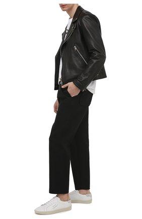 Мужские кожаные кеды court classic sl/06 SAINT LAURENT белого цвета, арт. 611352/00NA0 | Фото 2