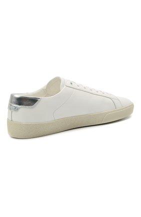 Мужские кожаные кеды court classic sl/06 SAINT LAURENT белого цвета, арт. 611352/00NA0   Фото 4 (Материал внешний: Кожа; Материал внутренний: Натуральная кожа; Подошва: Массивная)