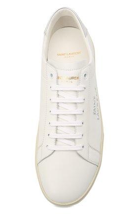 Мужские кожаные кеды court classic sl/06 SAINT LAURENT белого цвета, арт. 611352/00NA0   Фото 5 (Материал внешний: Кожа; Материал внутренний: Натуральная кожа; Подошва: Массивная)