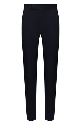 Мужские брюки из хлопка и льна ERMENEGILDO ZEGNA темно-синего цвета, арт. UWI37/TR10 | Фото 1