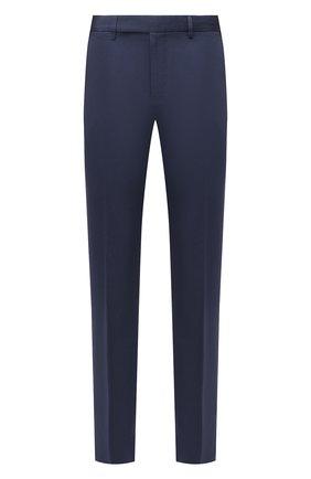Мужские брюки из хлопка и льна ERMENEGILDO ZEGNA синего цвета, арт. UWI37/TR10 | Фото 1