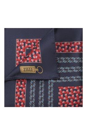 Мужской шелковый платок ZILLI красного цвета, арт. 51600/HANDKERCHIEF | Фото 1
