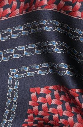 Мужской шелковый платок ZILLI красного цвета, арт. 51600/HANDKERCHIEF | Фото 2