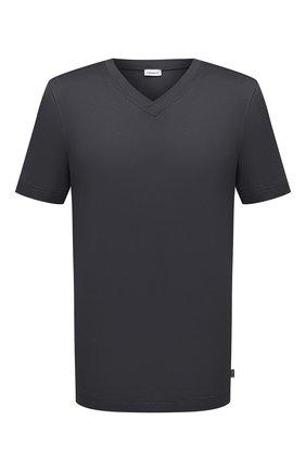 Мужская хлопковая футболка ZIMMERLI темно-серого цвета, арт. 3460-95301 | Фото 1 (Материал внешний: Хлопок; Длина (для топов): Стандартные; Рукава: Короткие; Кросс-КТ: домашняя одежда; Мужское Кросс-КТ: Футболка-белье)