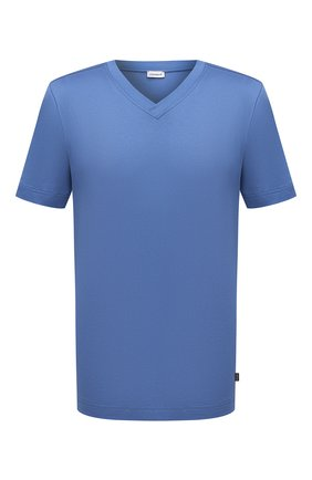 Мужская хлопковая футболка ZIMMERLI синего цвета, арт. 3460-95301 | Фото 1