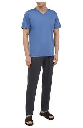 Мужская хлопковая футболка ZIMMERLI синего цвета, арт. 3460-95301 | Фото 2