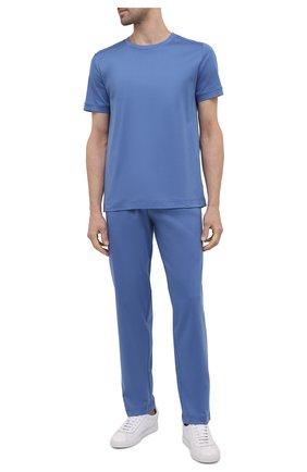 Мужские хлопковые домашние брюки ZIMMERLI синего цвета, арт. 3460-95304 | Фото 2