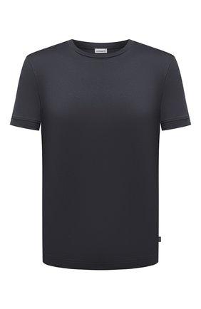 Мужская хлопковая футболка ZIMMERLI темно-серого цвета, арт. 3460-96046 | Фото 1 (Рукава: Короткие; Длина (для топов): Стандартные; Материал внешний: Хлопок; Мужское Кросс-КТ: Футболка-белье; Кросс-КТ: домашняя одежда)
