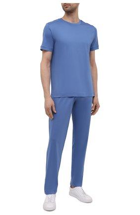Мужская хлопковая футболка ZIMMERLI синего цвета, арт. 3460-96046 | Фото 2