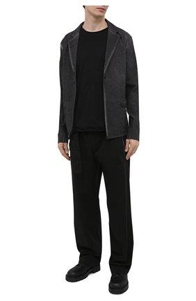 Мужской пиджак изо льна и вискозы THOM KROM темно-серого цвета, арт. M SJ 454   Фото 2