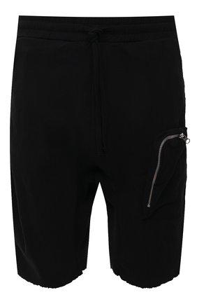 Мужские шорты изо льна и вискозы THOM KROM черного цвета, арт. M ST 225   Фото 1