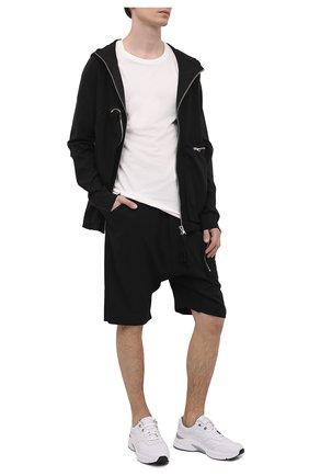 Мужские шорты изо льна и вискозы THOM KROM черного цвета, арт. M ST 225   Фото 2