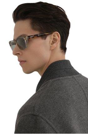 Мужские солнцезащитные очки BRIONI бежевого цвета, арт. 0DC600/P3ZAC | Фото 2