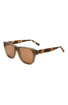 Мужские солнцезащитные очки BRIONI коричневого цвета, арт. 0DC600/P3ZAC | Фото 1