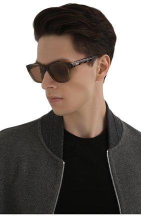 Мужские солнцезащитные очки BRIONI коричневого цвета, арт. 0DC600/P3ZAC | Фото 2