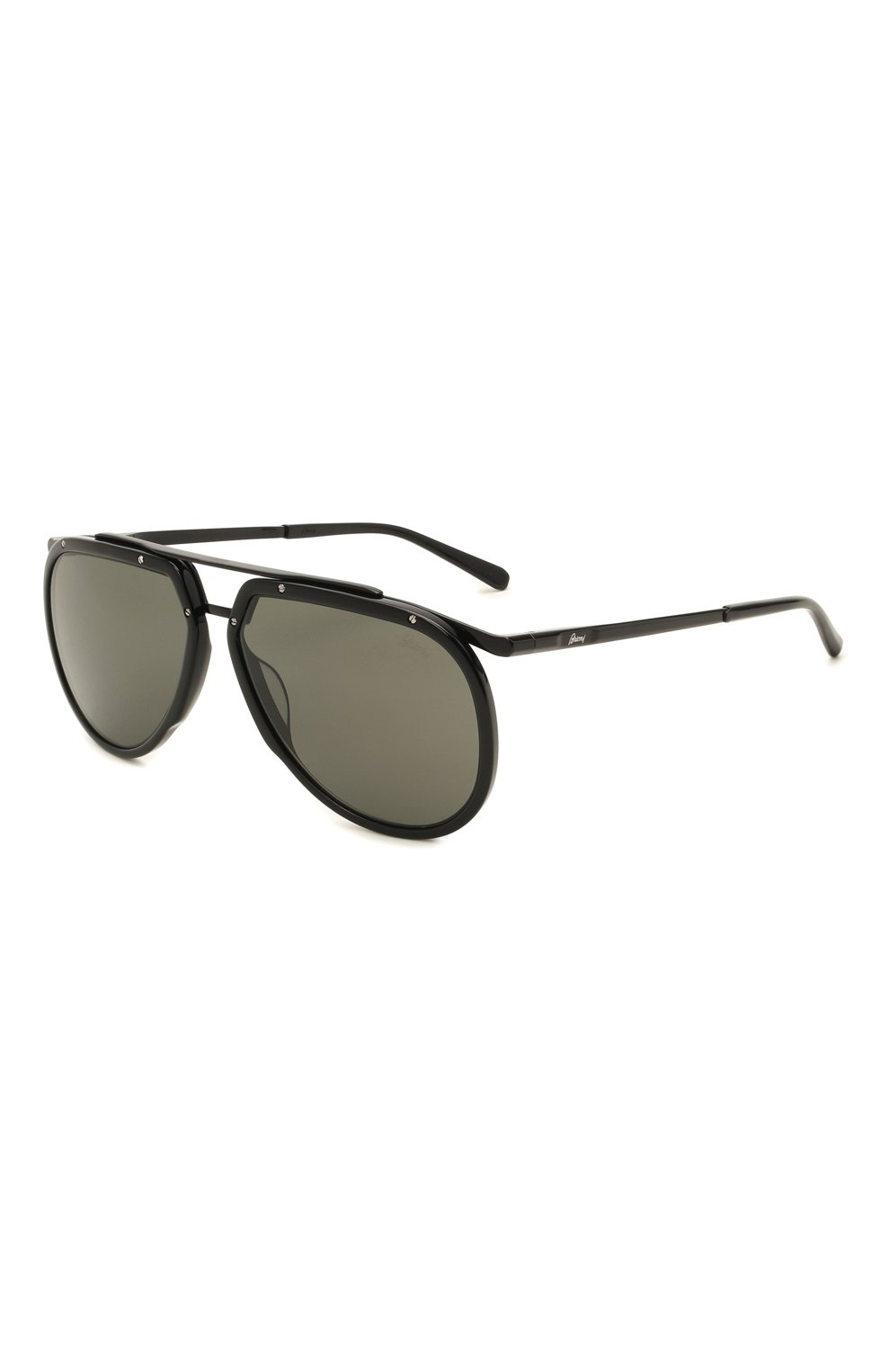 Мужские солнцезащитные очки BRIONI черного цвета, арт. 0DC900/P3ZAC | Фото 1