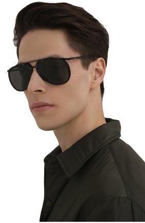 Мужские солнцезащитные очки BRIONI черного цвета, арт. 0DC900/P3ZAC | Фото 2