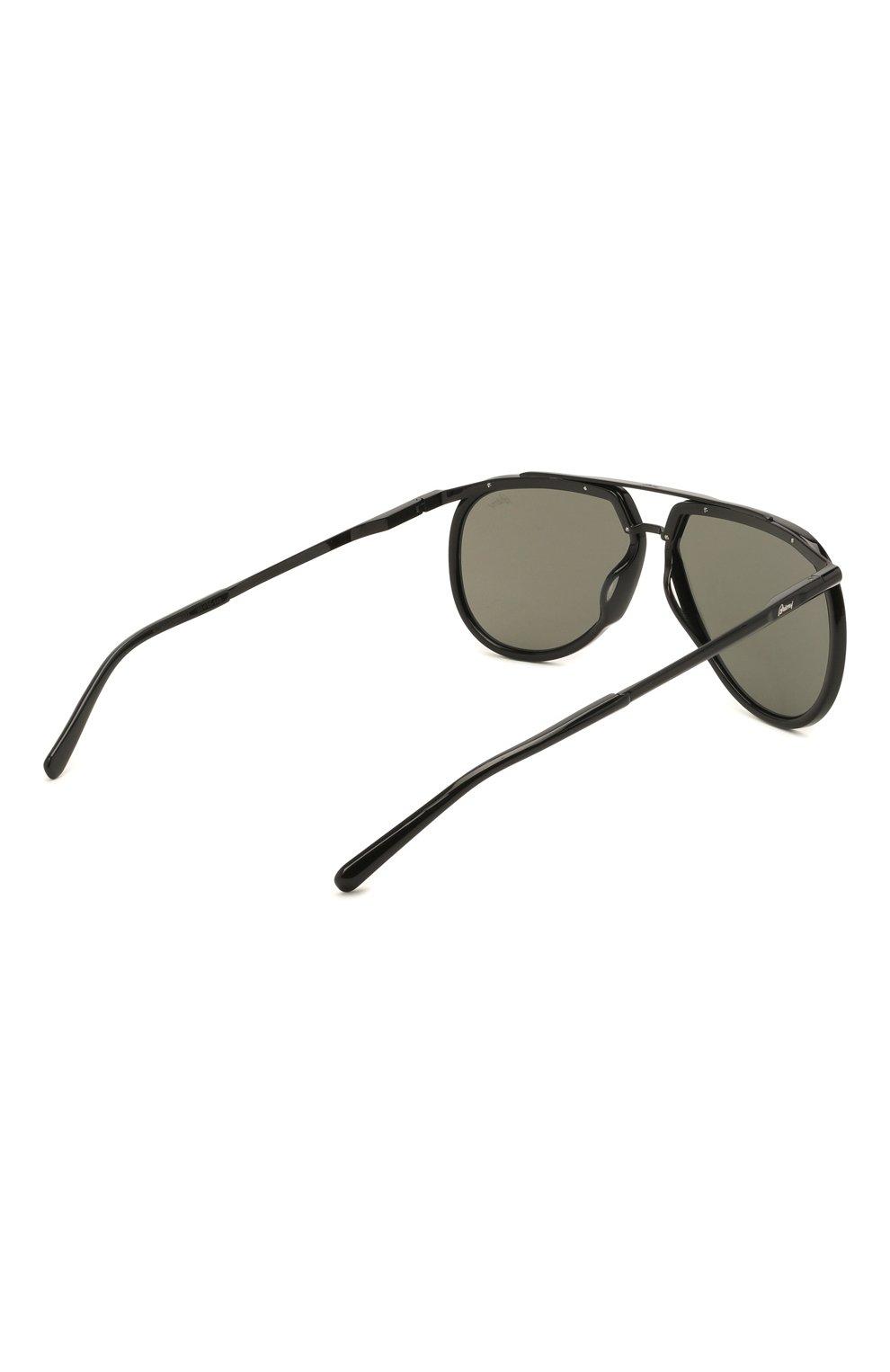 Мужские солнцезащитные очки BRIONI черного цвета, арт. 0DC900/P3ZAC | Фото 4