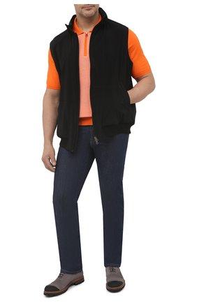 Мужское хлопковое поло KITON оранжевого цвета, арт. UK1253L | Фото 2