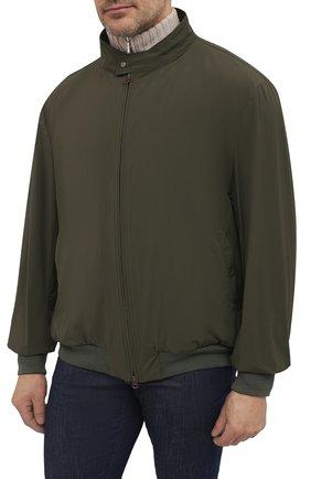 Мужской бомбер KIRED хаки цвета, арт. WMAXW6905002009/64-74   Фото 3 (Кросс-КТ: Куртка; Big sizes: Big Sizes; Рукава: Длинные; Принт: Без принта; Материал внешний: Синтетический материал; Длина (верхняя одежда): Короткие; Стили: Кэжуэл)