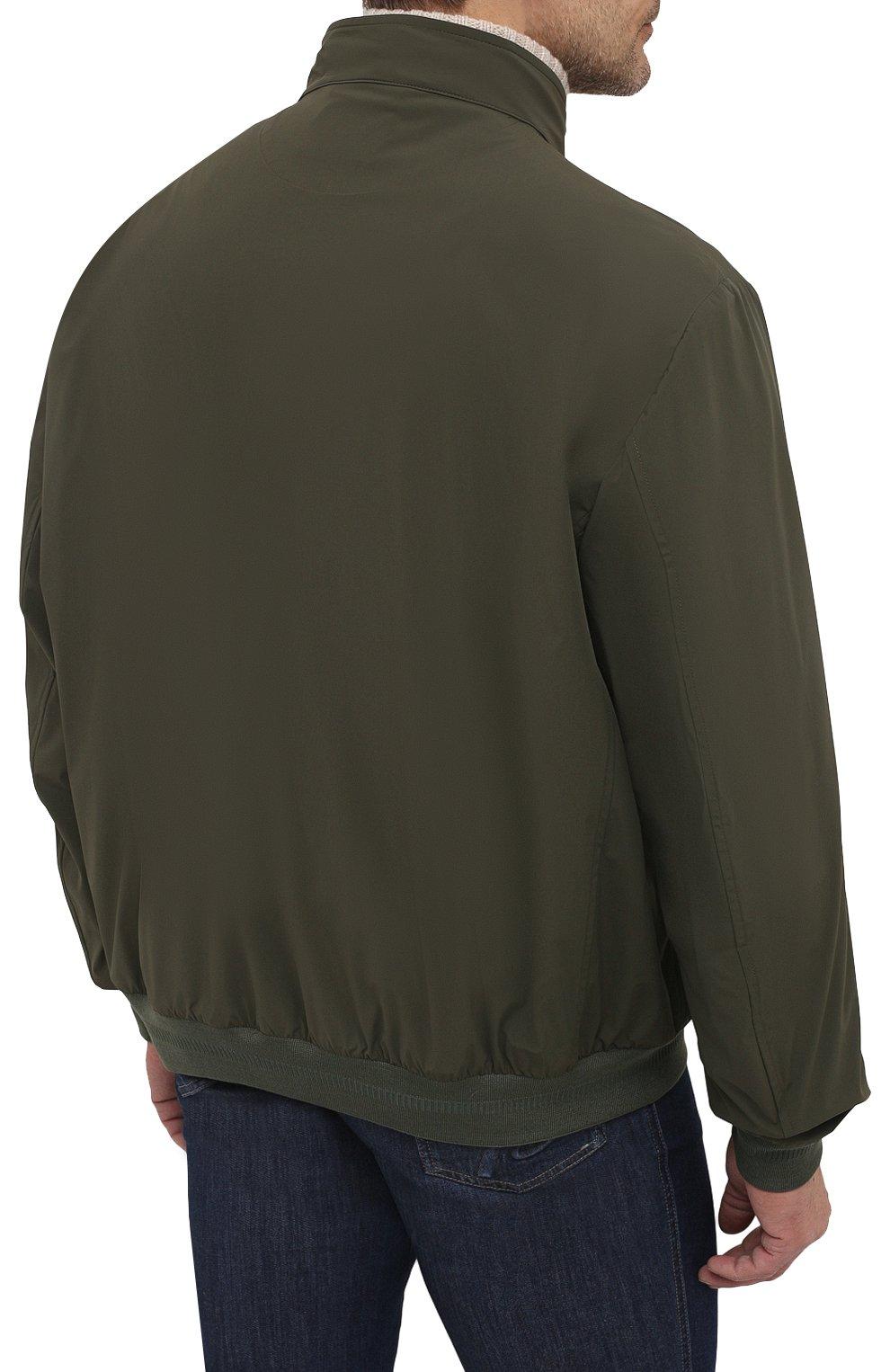 Мужской бомбер KIRED хаки цвета, арт. WMAXW6905002009/64-74   Фото 4 (Кросс-КТ: Куртка; Big sizes: Big Sizes; Рукава: Длинные; Принт: Без принта; Материал внешний: Синтетический материал; Длина (верхняя одежда): Короткие; Стили: Кэжуэл)
