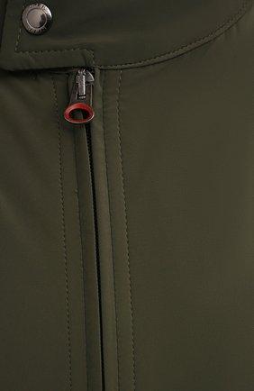 Мужской бомбер KIRED хаки цвета, арт. WMAXW6905002009/64-74   Фото 5 (Кросс-КТ: Куртка; Big sizes: Big Sizes; Рукава: Длинные; Принт: Без принта; Материал внешний: Синтетический материал; Длина (верхняя одежда): Короткие; Стили: Кэжуэл)