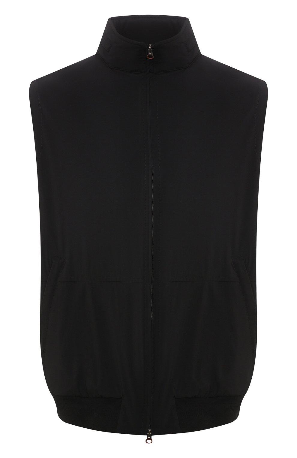 Мужской жилет KIRED черного цвета, арт. WMAXBSMW6905014000/64-74   Фото 1 (Кросс-КТ: Куртка; Big sizes: Big Sizes; Материал внешний: Синтетический материал; Длина (верхняя одежда): Короткие; Стили: Кэжуэл)