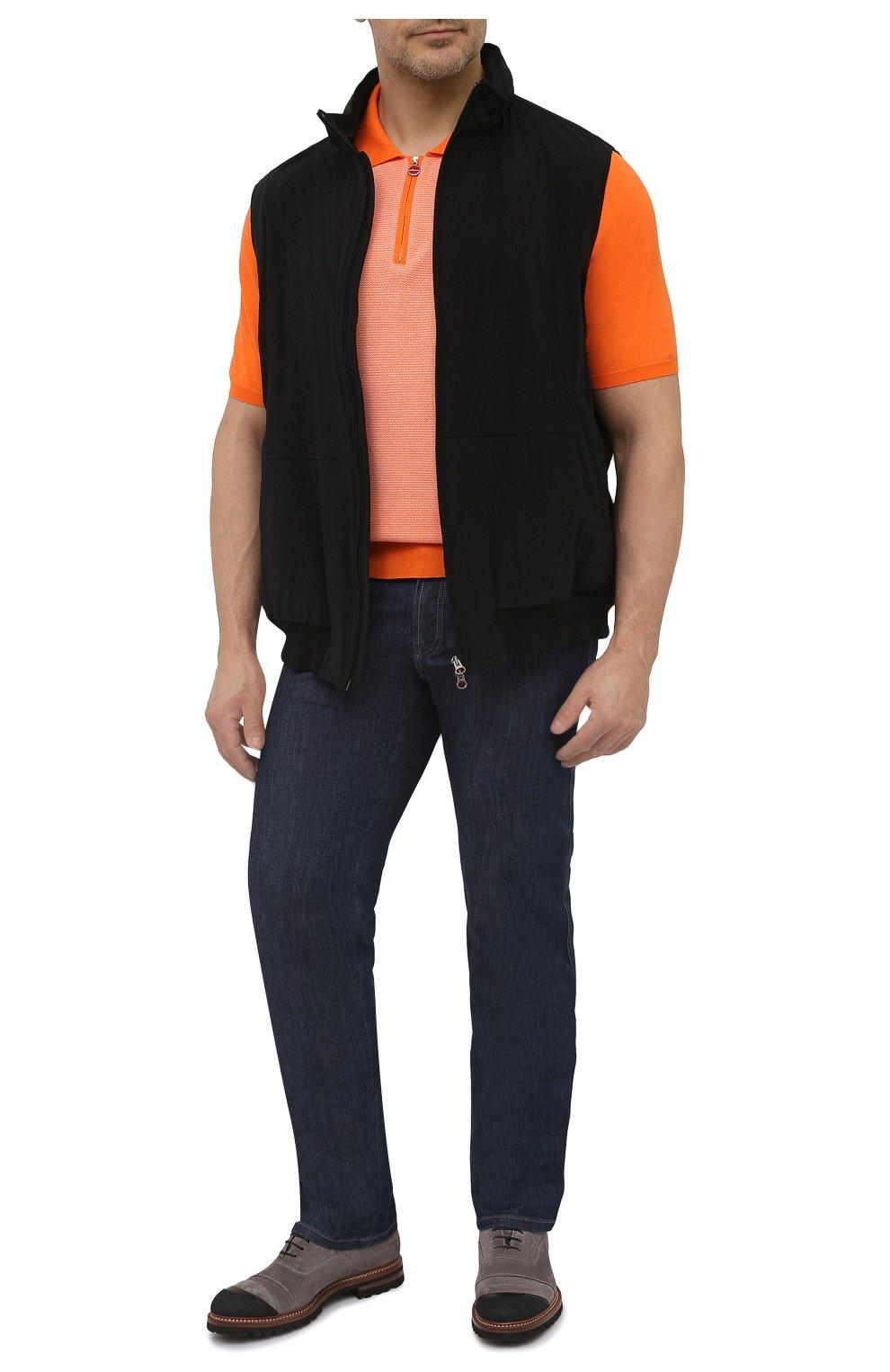 Мужской жилет KIRED черного цвета, арт. WMAXBSMW6905014000/64-74   Фото 2 (Кросс-КТ: Куртка; Big sizes: Big Sizes; Материал внешний: Синтетический материал; Длина (верхняя одежда): Короткие; Стили: Кэжуэл)