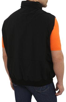 Мужской жилет KIRED черного цвета, арт. WMAXBSMW6905014000/64-74   Фото 4 (Кросс-КТ: Куртка; Big sizes: Big Sizes; Материал внешний: Синтетический материал; Длина (верхняя одежда): Короткие; Стили: Кэжуэл)