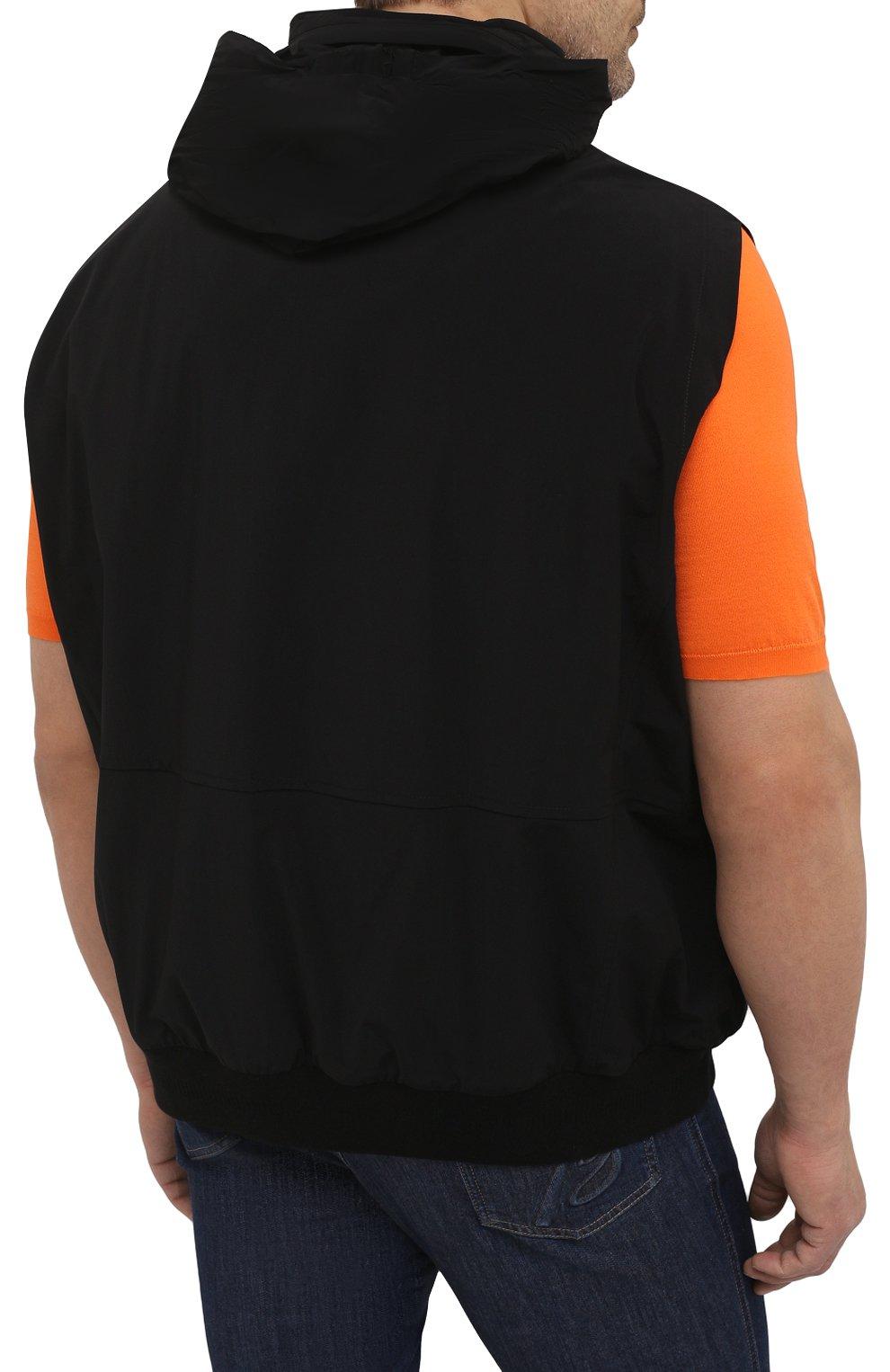 Мужской жилет KIRED черного цвета, арт. WMAXBSMW6905014000/64-74   Фото 6 (Кросс-КТ: Куртка; Big sizes: Big Sizes; Материал внешний: Синтетический материал; Длина (верхняя одежда): Короткие; Стили: Кэжуэл)