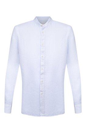 Мужская льняная рубашка 120% LINO голубого цвета, арт. T0M1159/B317/S00 | Фото 1