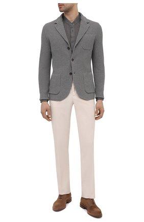 Мужская льняная рубашка 120% LINO темно-серого цвета, арт. T0M1159/B317/S00 | Фото 2