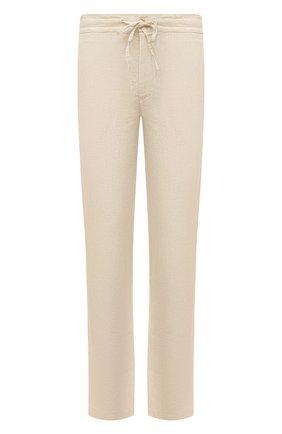 Мужские льняные брюки 120% LINO бежевого цвета, арт. T0M299M/0253/000 | Фото 1