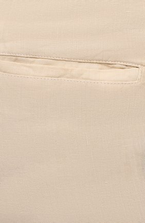 Мужские льняные брюки 120% LINO бежевого цвета, арт. T0M299M/0253/000   Фото 5 (Длина (брюки, джинсы): Стандартные; Случай: Повседневный; Материал внешний: Лен; Стили: Кэжуэл)