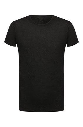 Мужская льняная футболка 120% LINO черного цвета, арт. T0M7186/E908/S00 | Фото 1