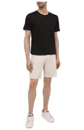 Мужская льняная футболка 120% LINO черного цвета, арт. T0M7186/E908/S00 | Фото 2