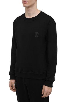 Мужской хлопковый спортивный костюм SEVEN LAB черного цвета, арт. 66SWP21-1sk black | Фото 2
